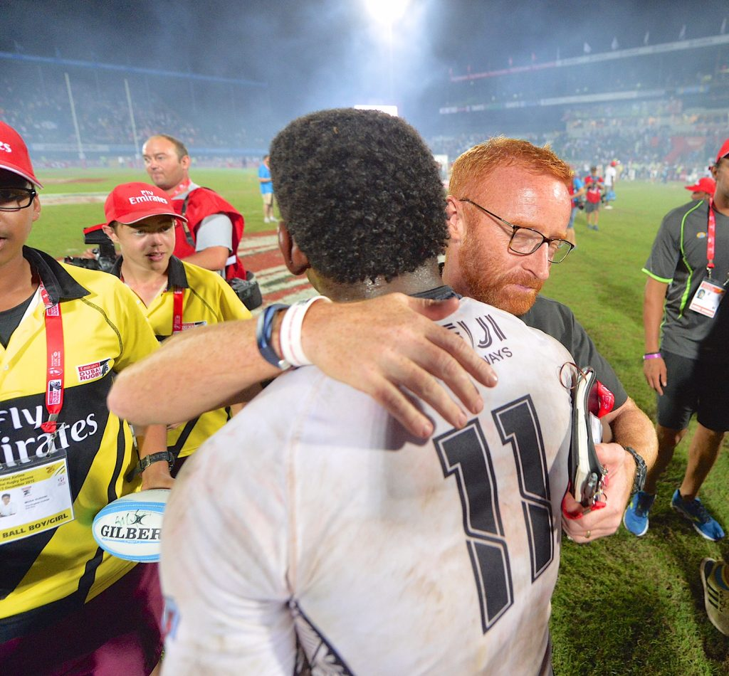 Ben Ryan and Fiji Player